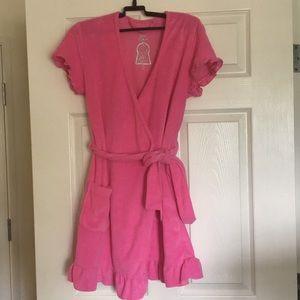 Betsey Johnson Pink Bath Terrycloth Robe